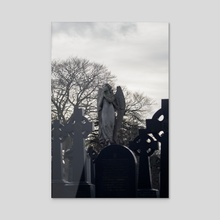 Cemetary - Acrylic by Fabrice Gagos