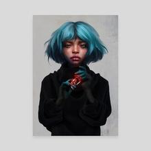 Aqua - Canvas by Laura H. Rubin