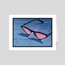 South Beach glasses - Art Card by nata duke