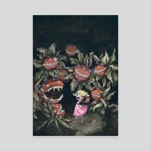 The Princess and the Piranha Plants - Canvas by allison j. sebastian