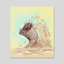 Sandworm - Acrylic by Sady M. Izé