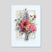 Flowers Poster N2 - Acrylic by Aleksandr Gusakov