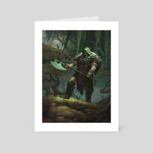 MtG - Garruk, Cursed Huntsman - Art Card by Dmitry Burmak
