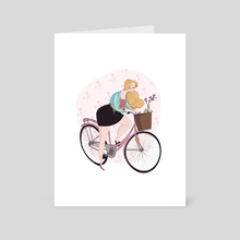 orchid bike - Art Card by Drude Mangaard