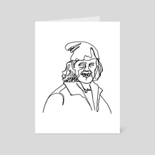 Shameless - Frank Gallagher Lineart - Art Card by Lea Gallacchi