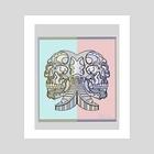 skull1 - Art Print by Randal Romwalter
