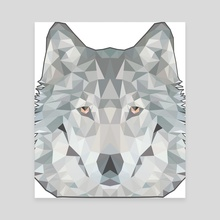 Wolf poly - Canvas by Genevieve Blais