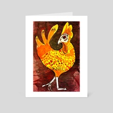 El Gallo - Art Card by Lucie Hayford