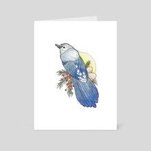 Blue Bird - Art Card by Kristen Jussila