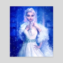 Elsa, Frozen - Canvas by Joe Roberts