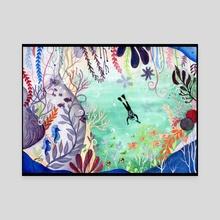 Deep Sea Exploration - Canvas by Gloria Tse