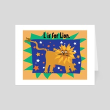 L is for Lion - Art Card by Kristin Reiber Harris