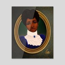 Victorian Black Woman - Acrylic by Shakira Rivers