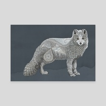 Arctic Fox - Canvas by Zanna Field