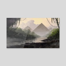 Jungle Pyramid - Acrylic by Jon Pintar
