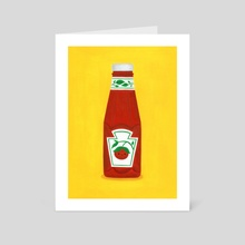 Ketchup - Art Card by Nellie Le