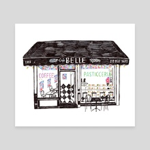 Cafe Belle - Canvas by Joel Holland