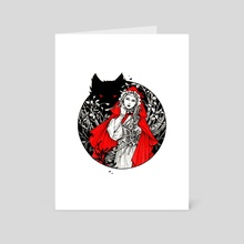 Little Red Riding Hood - Art Card by Maria Dimova