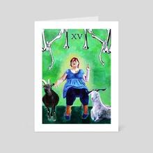 The Devil - Art Card by Celeste Groenewald