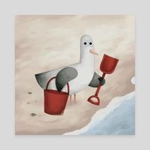 Bucket And Spade - Canvas by Greg Abbott