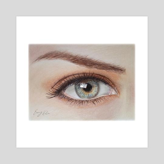 Eye Close Up Drawing by Emmy Kalia