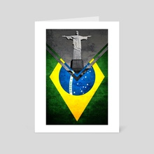Flag - Brazil - Art Card by Alexandre Ibáñez
