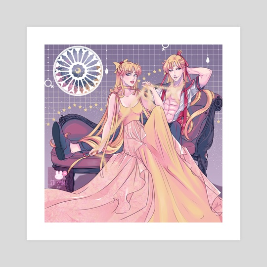 Sailor V & Princess Venus by Silkydxll