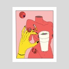 """""""CHASING ADDICTIONS"""" - Art Print by VAMEEE"""