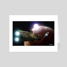 Probe Launch - Art Card by Jordan Farquhar