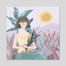 Summer Leave - Acrylic by Mirella Illustrates