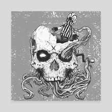 jack in the skull - Canvas by Martin Laforest