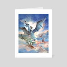 Fugitives Flight - Art Card by Jessica Dueck