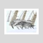 the blizzard - Art Print by Dmitry Rezchikov
