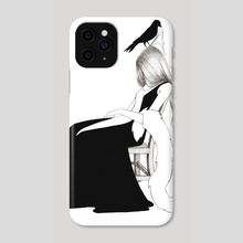 Crow - Phone Case by Marie-Claire Redon