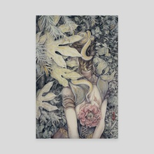 Peony Queen - Canvas by Hope Doe