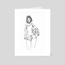 basketball player - Art Card by gabryel gonçalves