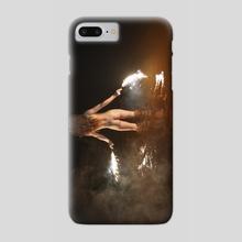Fire Swim With Me - Phone Case by Linas Vaitonis