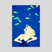 Deep blue - Canvas by Sai Tamiya