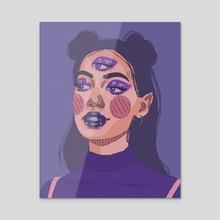 Three eyes - Acrylic by Layana Cmt