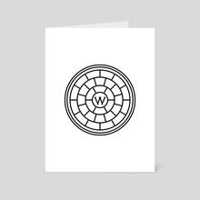 Baltimore Manhole Cover 3 - Art Card by Tanya Heidrich