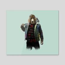 Blizzard Bear - Acrylic by Danny Villarreal