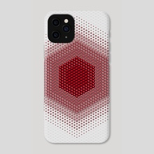 Red Hex - Phone Case by Deli Bobs