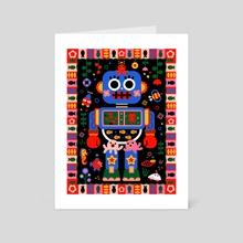 Octopus Robot - Art Card by Uijung Kim