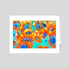 Sunflower Garden - Art Card by 83 Oranges