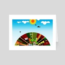 Farm - Art Card by Michal Eyal