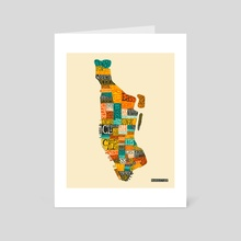 Manhattan Neighborhoods - Art Card by Jazzberry Blue
