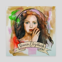 Queen Elizabeth - Canvas by christa palazzolo