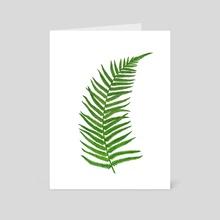 Green Fern - Art Card by Nika