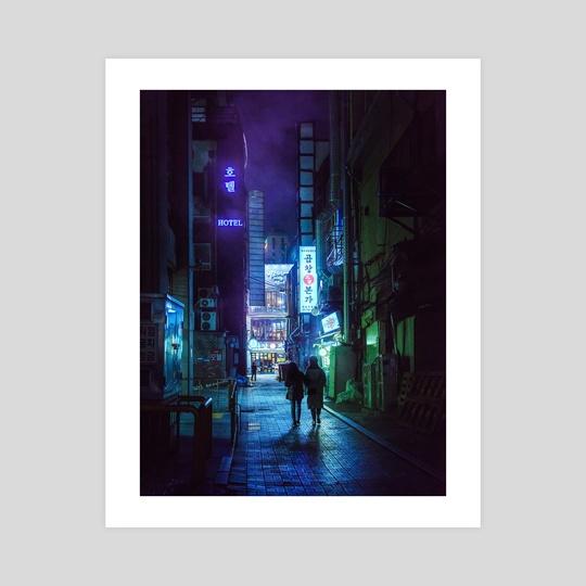 Dark Cyberpunk Alley by Alberto Urra