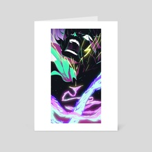 (Promare) Set Yourself On Fire - Art Card by Jayd Ait-Kaci